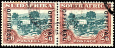 South Africa 1934 2/6 official opt 21mm fine used.