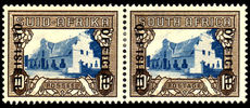 South Africa 1948 10/- official mint lightly hinged.