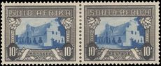 South Africa 1933-48 10sh blue and sepia lightly mounted mint.