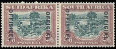 South Africa 1930-47 2sh6d official 17½mm between overprint lightly mounted mint.