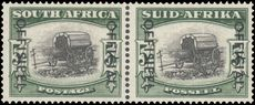 South Africa 1950-54 5s Official unmounted mint (folded between).