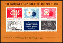 Finland 1961 National Stamp Exhibition Europa souvenir sheet unmounted mint.