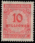 Germany 1923 10M scarlet perf 14 unmounted mint.