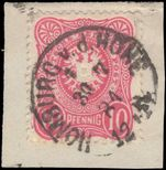 Germany 1880 10pf scarce rose-red shade fine used. Signed Wiegand BPP