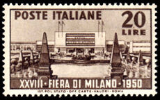Italy 1950 Milan Fair unmounted mint.
