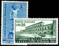 Italy 1950 UNESCO mint lightly hinged.