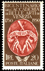 Italy 1950 Fine Arts Academy unmounted mint.