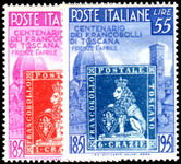 Italy 1951 Tuscan Stamp Anniversary mint lightly hinged.