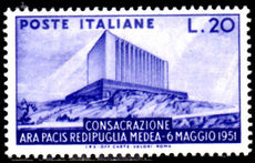 Italy 1951 Hall of Peace mint lightly hinged.