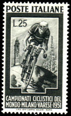 Italy 1951 Cycling unmounted mint.