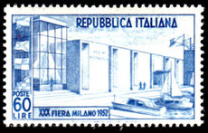 Italy 1952 Milan Fair mint lightly hinged.