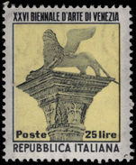 Italy 1952 Art Exhibition unmounted mint.