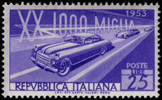 Italy 1953 Mille Miglia Race unmounted mint.