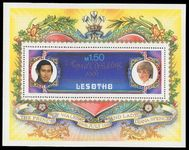 Lesotho 1981 Royal Wedding souvenir sheet unmounted mint.