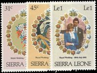 Sierra Leone 1981 Royal Wedding unmounted mint.