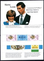 Sierra Leone 1981 Royal Wedding exploded booklet unmounted mint.