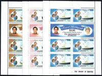 St Vincent Grenadines 1981 Royal Wedding sheetlets unmounted mint.