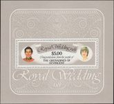 St Vincent Grenadines 1981 Royal Wedding souvenir sheet unmounted mint.