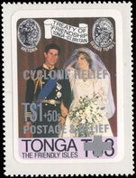 Tonga 1982 Cyclone Relief unmounted mint.