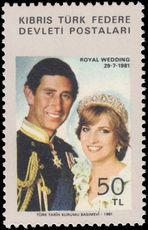 Turkish Cyprus 1981 Royal Wedding unmounted mint.
