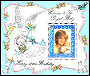 Isle of Man 1982 Royal Baby souvenir sheet unmounted mint.