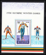 Mongolia 1988 Winter Olympics souvenir sheet unmounted mint.