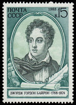 Russia 1988 Birth Bicentenary of Lord Byron (English poet) unmounted mint.