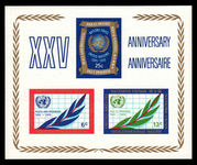 New York 1970 25th Anniversary souvenir sheet unmounted mint.