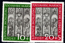 West Germany 1951 St Marys Church unmounted mint.