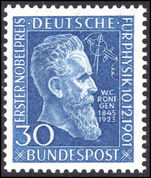 West Germany 1951 Rontgen unmounted mint.