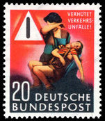 West Germany 1953 Road Safety unmounted mint.