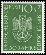 West Germany 1953 Science Museum unmounted mint.