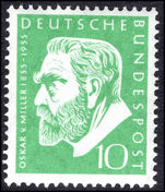 West Germany 1955 von Miller unmounted mint.