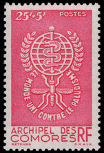 Comoro Islands 1962 Malaria unmounted mint.