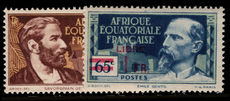 French Equatorial Africa 1940 Adherence to de Gaulle LIBRE and surcharged unmounted mint.