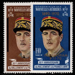 French New Hebrides 1971 Death of General de Gaulle unmounted mint.
