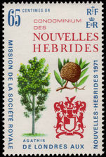 French New Hebrides 1971 Royal Society Expedition unmounted mint.