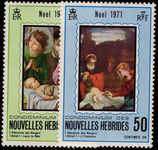 French New Hebrides 1971 Christmas unmounted mint.