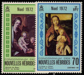 French New Hebrides 1972 Christmas unmounted mint.