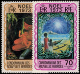 French New Hebrides 1973 Christmas unmounted mint.