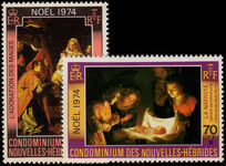 French New Hebrides 1974 Christmas unmounted mint.