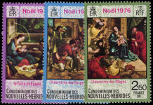 French New Hebrides 1976 Christmas unmounted mint.