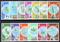 French New Hebrides 1977-78 Maps of the Islands unmounted mint.