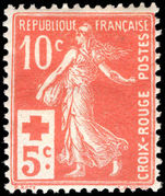 France 1914 Red cross lightly mounted mint.
