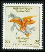 Colombia 1960-62 25c Flower Stanhopea Tigrina unmounted mint.