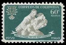 Colombia 1960 World Refugee Year perf 10 unmounted mint.