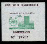 Colombia 1960 UN Day souvenir sheet unmounted mint.