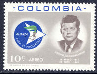 Colombia 1963 J F Kennedy unmounted mint.