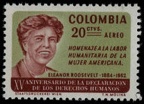 Colombia 1964 Human Rights unmounted mint.