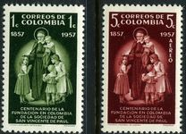 Colombia 1957 Order Of St Vincent De Paul unmounted mint.